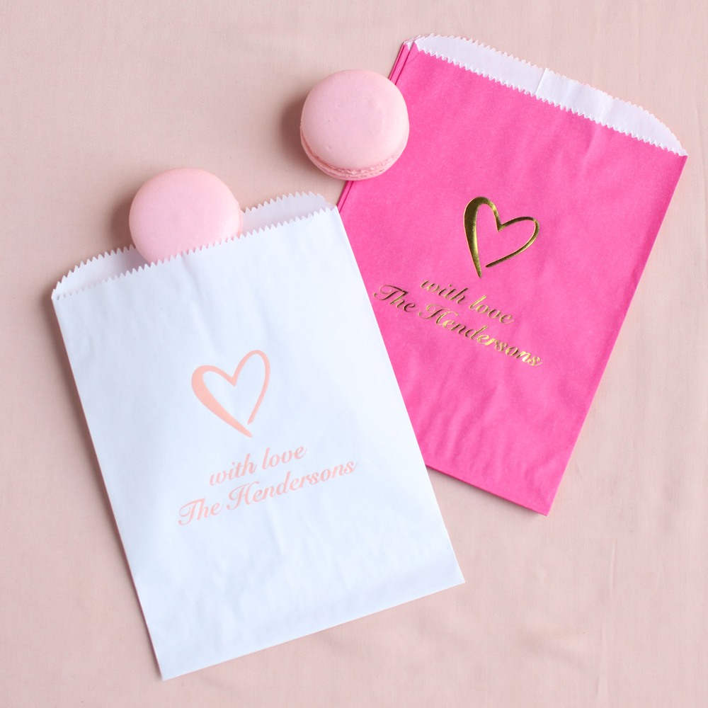 Personalized Heart Sweets 'n Treats Bag