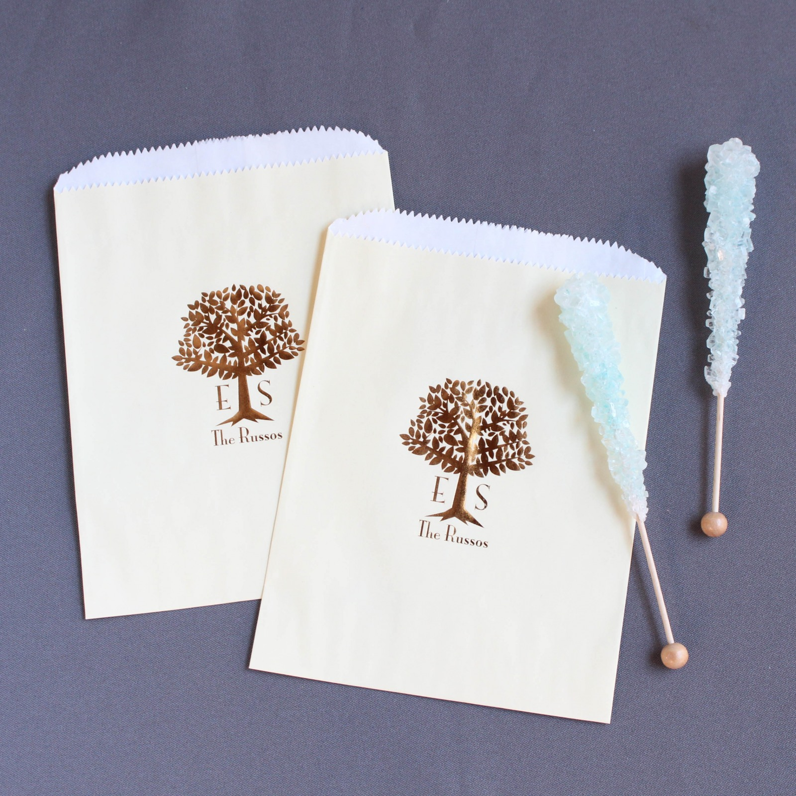 Personalized Wedding Tree Sweets 'n Treats Bag