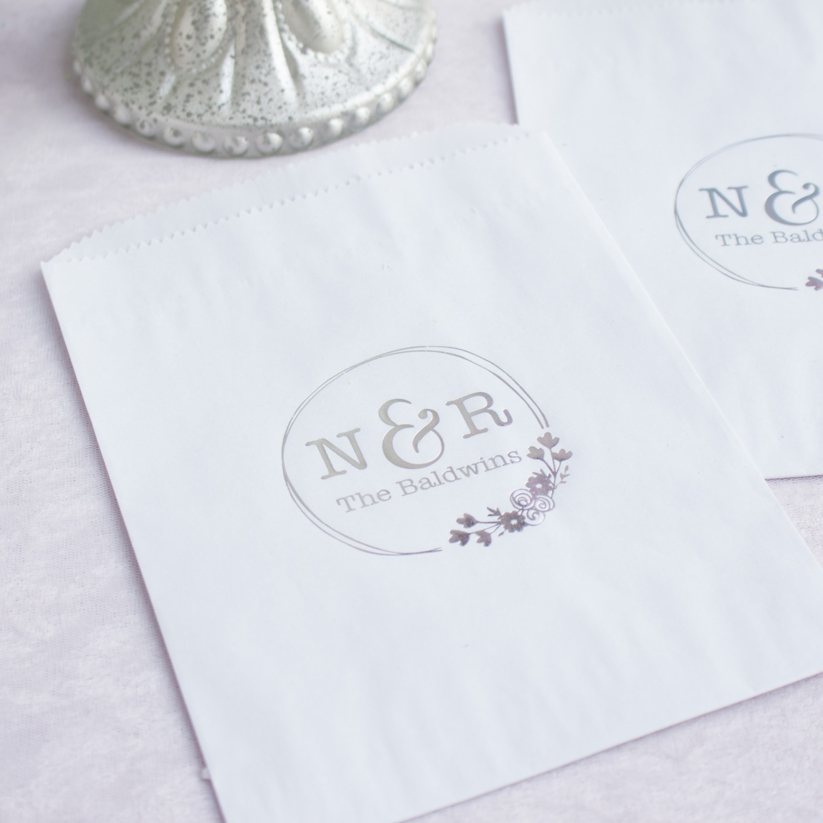 Personalized Botanical Monogram Sweets 'n Treats Bag