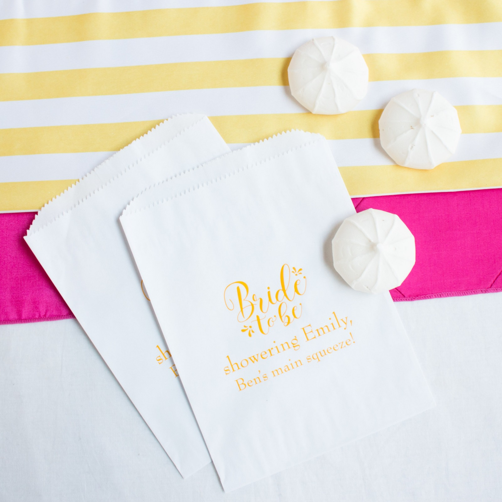 Personalized Bride to Be Sweets 'n Treats Bag