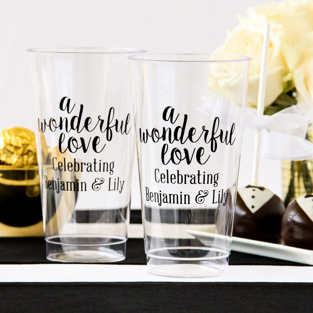 Personalized 16oz. Clear Plastic Cups