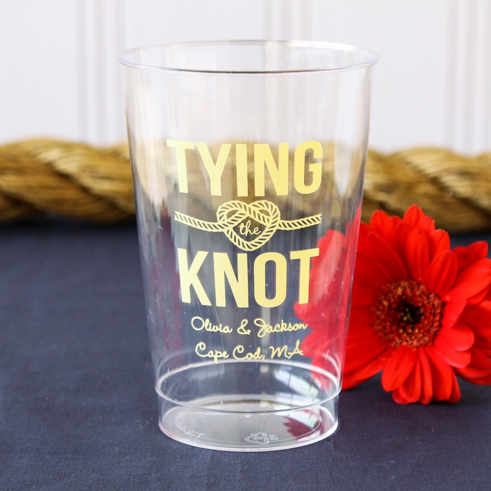 Personalized Natutical Themed Clear Plastic Cup