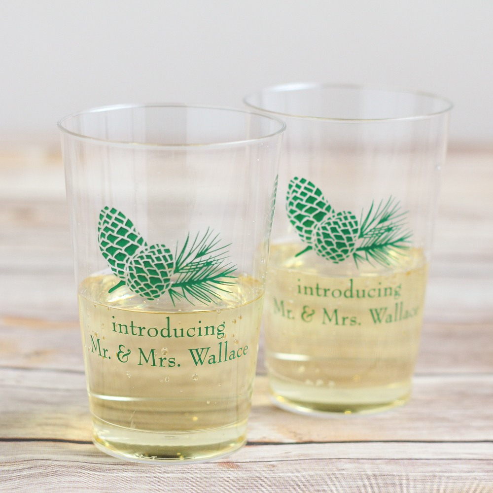 Personalized Pinecone Clear Plastic Cups