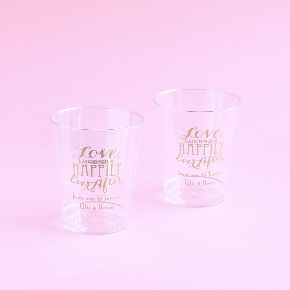 Personalized Love Laughter Clear Cups