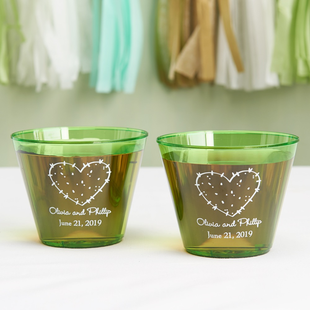 Personalized Stuck On You Clear Plastic Cups