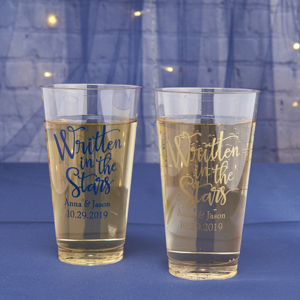 Personalized Written In The Stars Clear Plastic Cups
