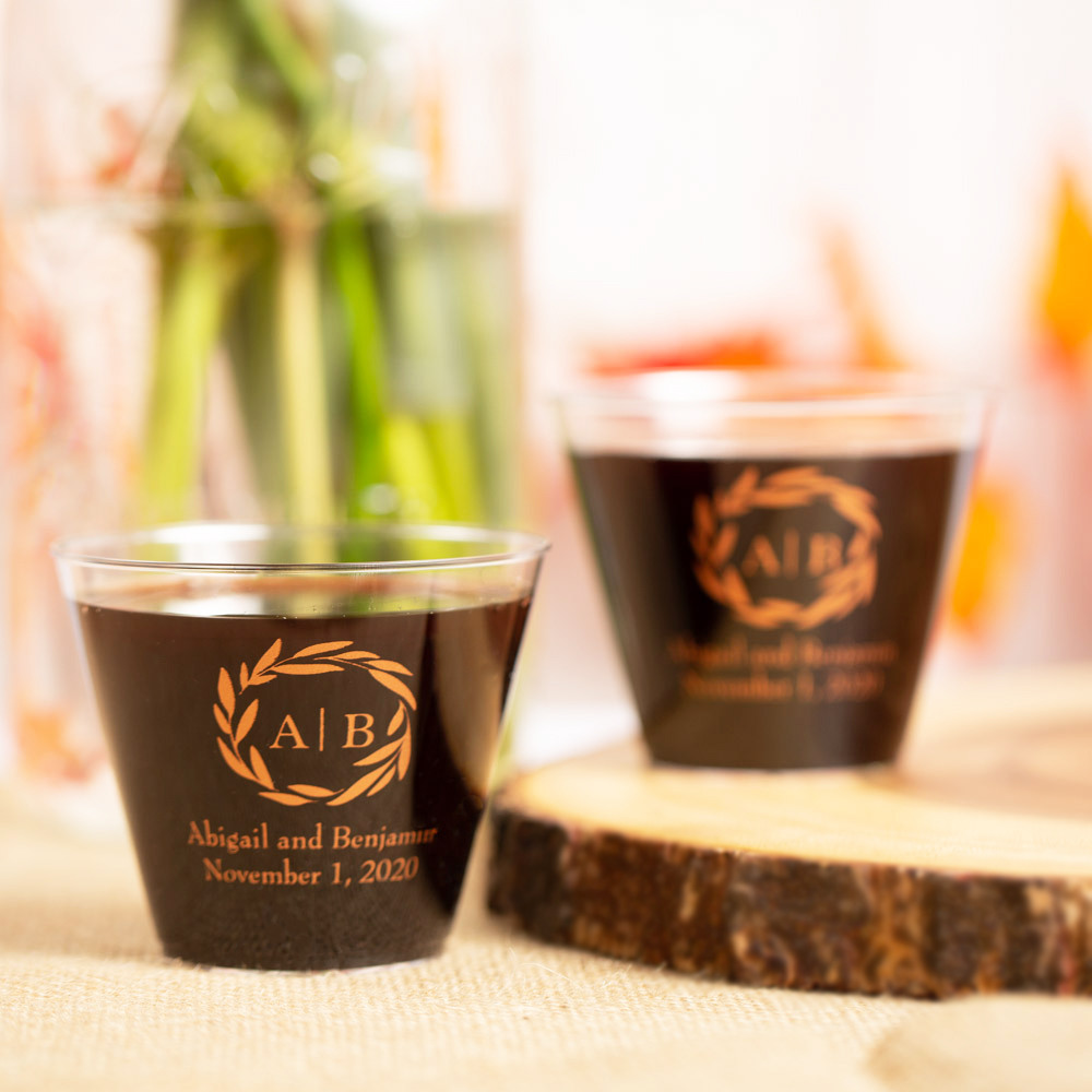 Personalized Fall Harvest Clear Plastic Cups