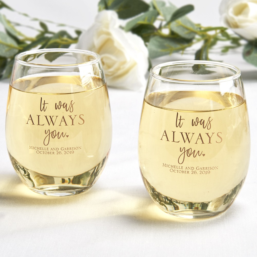 Personalized Stemless Wine Glasses 6684