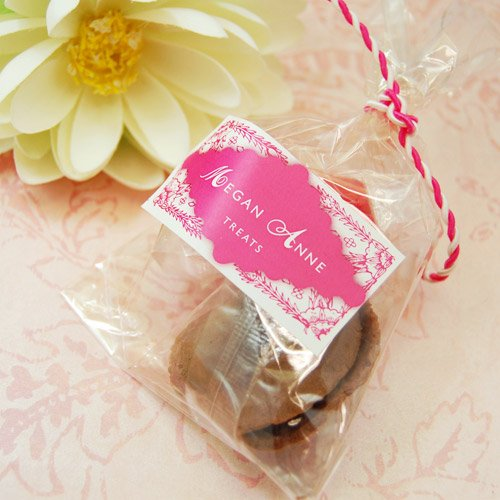 Color Fortune Cookies in Cello Bag with Personalized Label
