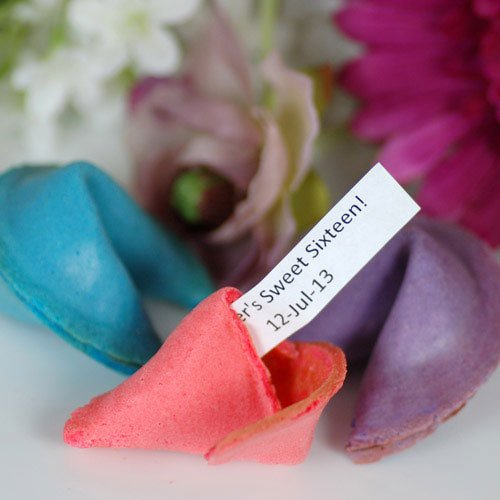 Birthday Custom Color Fortune Cookies