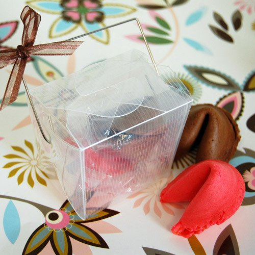 Color Fortune Cookies in Take Out Box