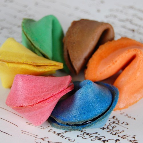 Custom Color Fortune Cookies