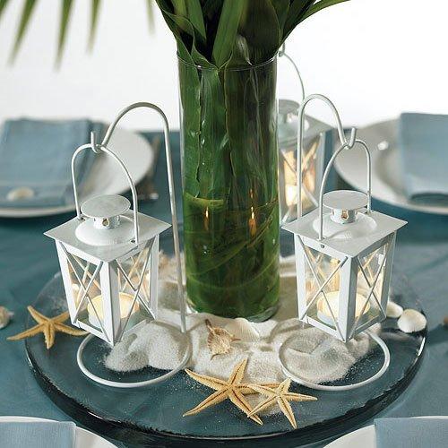 Mini White Hanging Lantern Tea Light Holders 2209