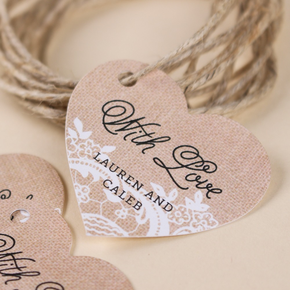 Personalized Heart Shaped Tags