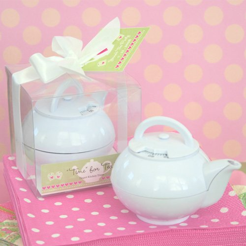 Mini White Teapot Timer 2280