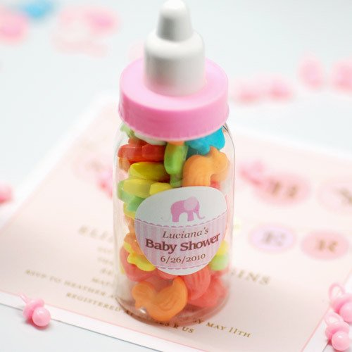 Mini Plastic Pink Bottles