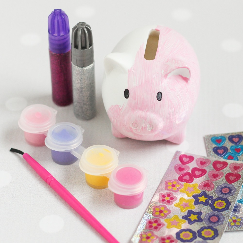 Decorate Your Own Piggy Bank Party Favor 2363