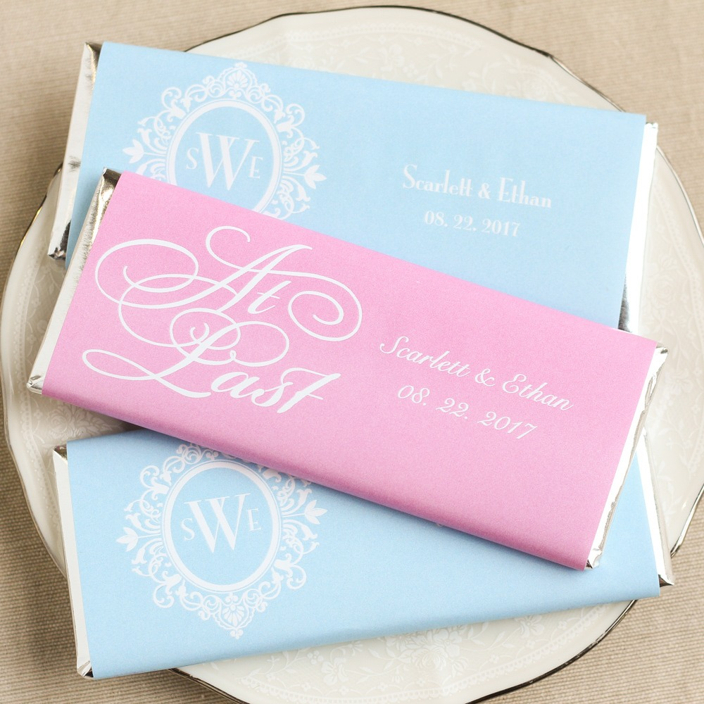 Personalized Fairy Tale Wedding Hershey's Chocolate Bars