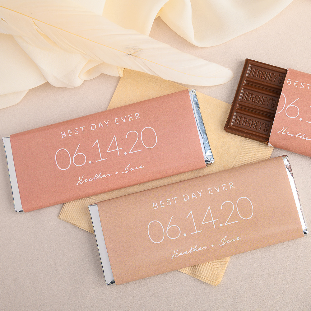 Personalized Wedding Date Hershey's Chocolate Bars
