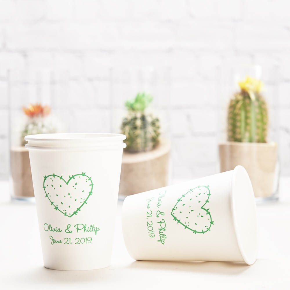 Personalized Wedding Paper Cups stuck on you