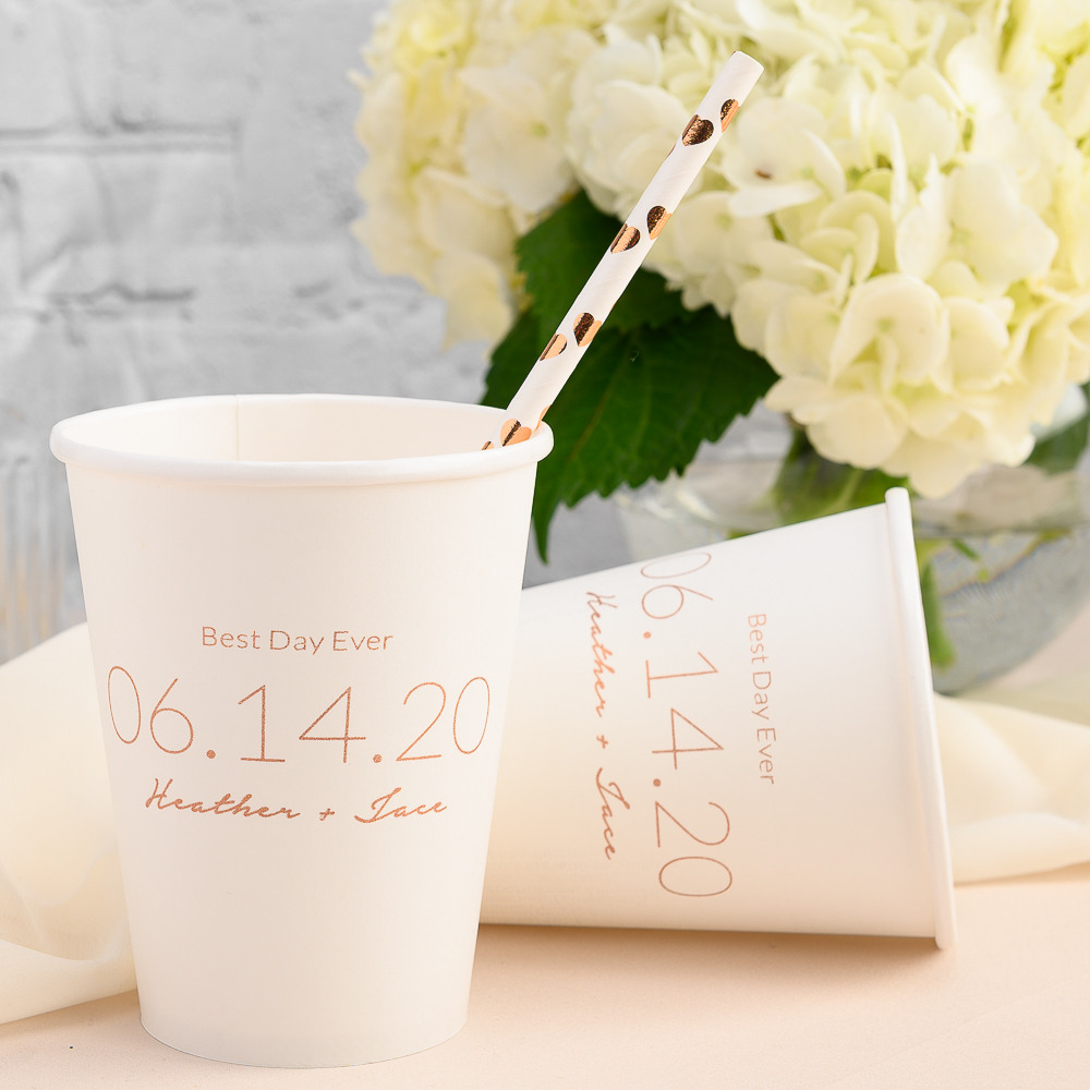 Personalized Wedding Date Wedding Paper Cups