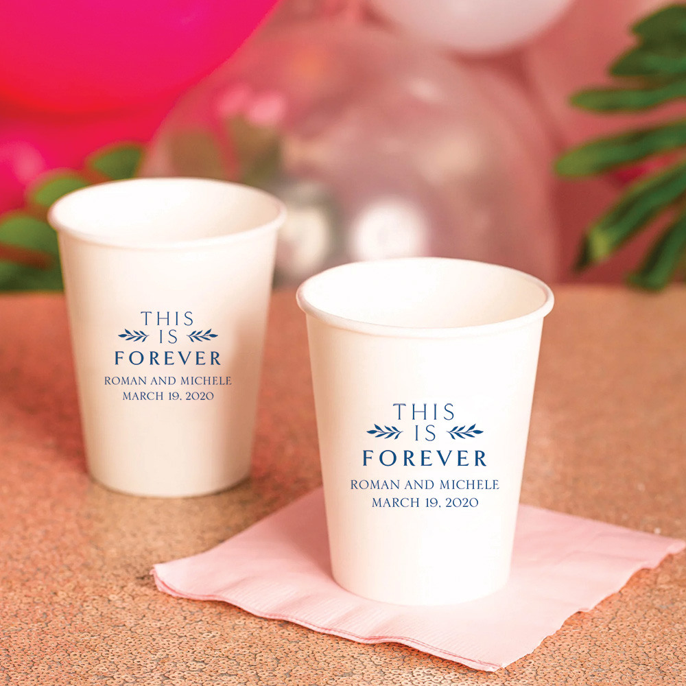 Personalized This is Forever Wedding Paper Cups