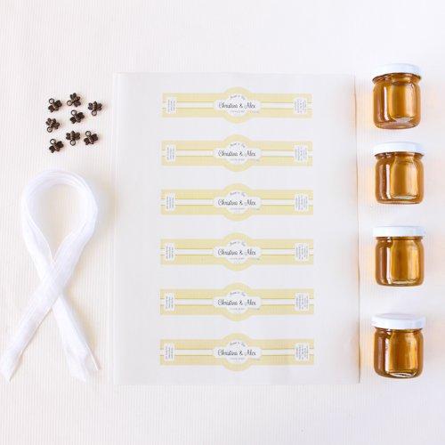 Unassembled Personalized Honey Jars