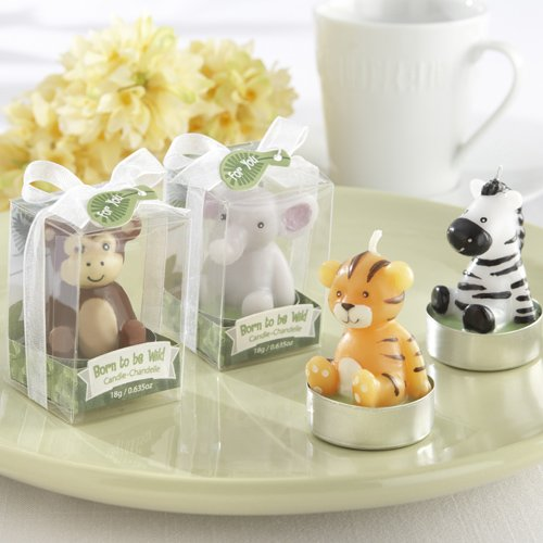 Mini Jungle Animal Baby Shower Candles 2623