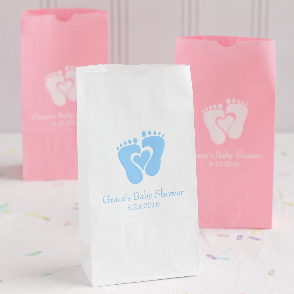 Personalized Baby Feet Goodie Bag