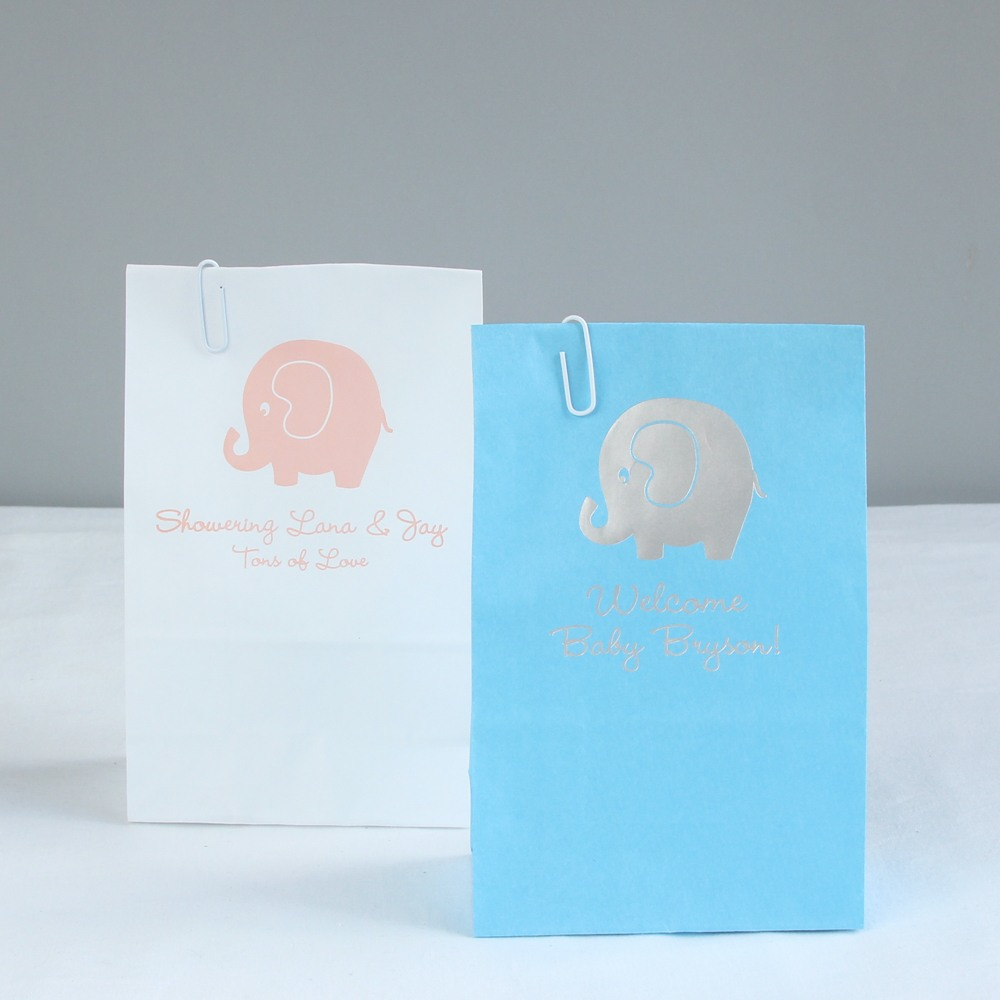 Personalized Elephant Baby Shower Goodie Bags