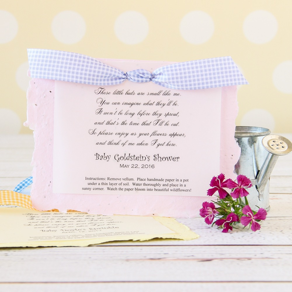Personalized Baby Shower Plantable Seed Poem Favors