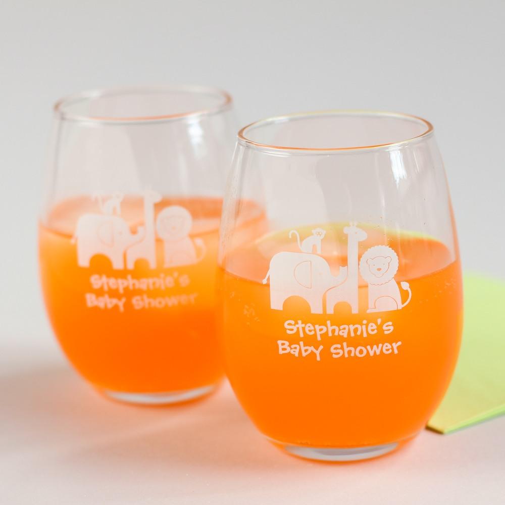 Personalized Safari Stemless Wine Glass