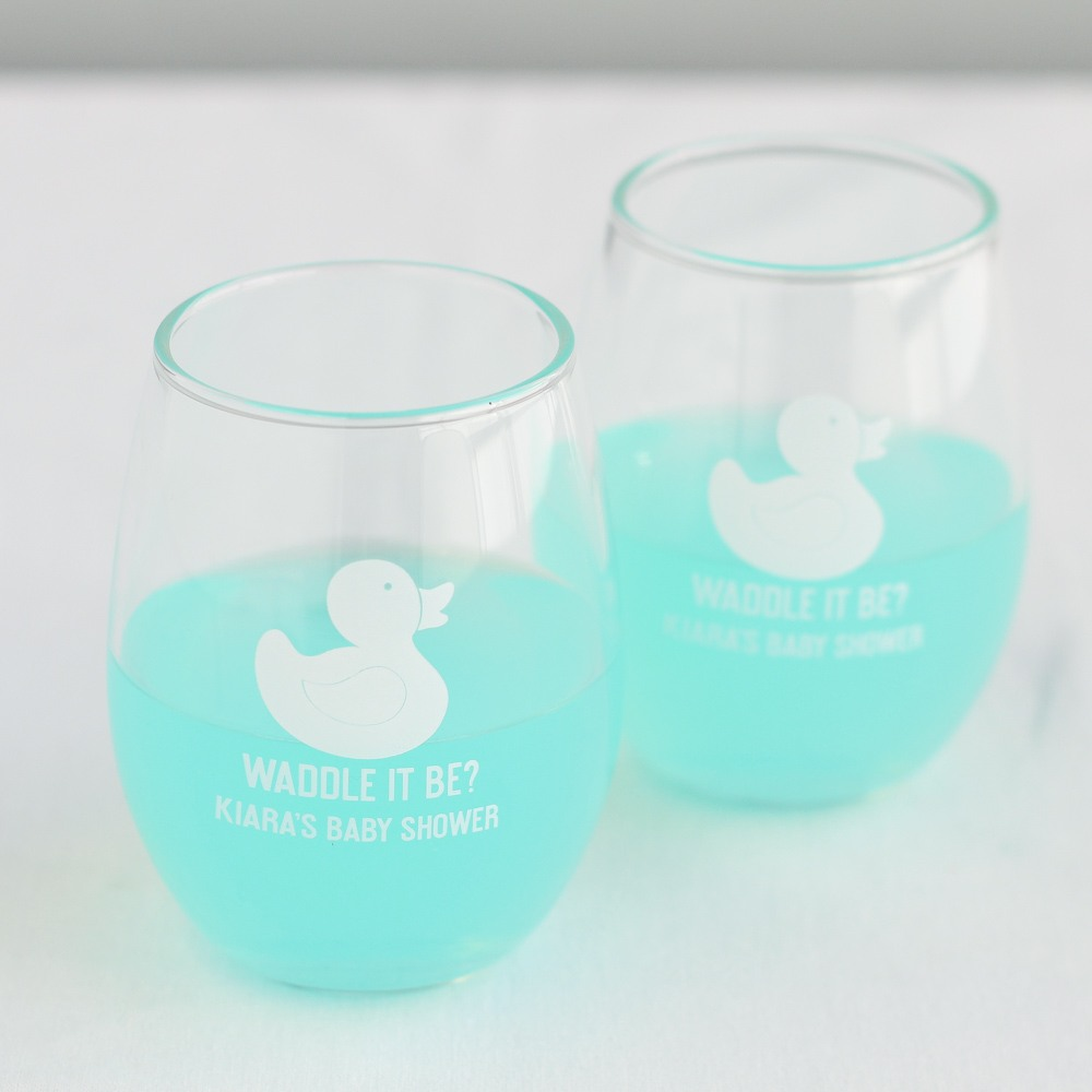 Personalized Duck Stemless Wine Glass