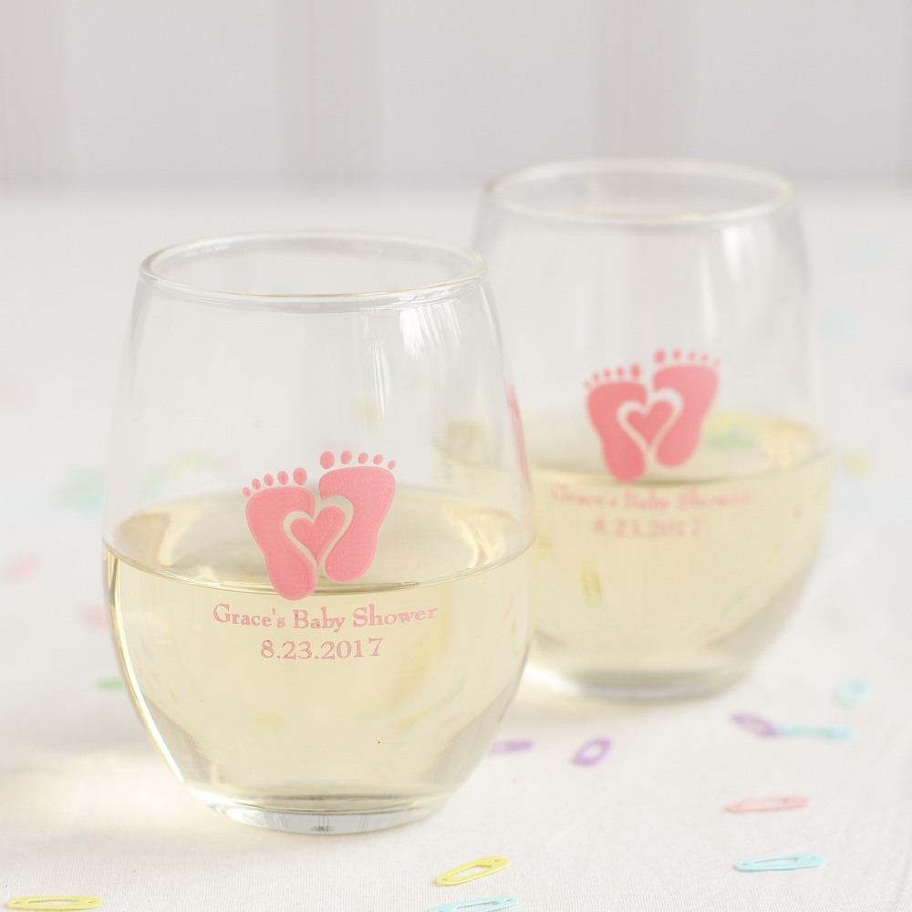 Personalized Baby Feet Wine Glass