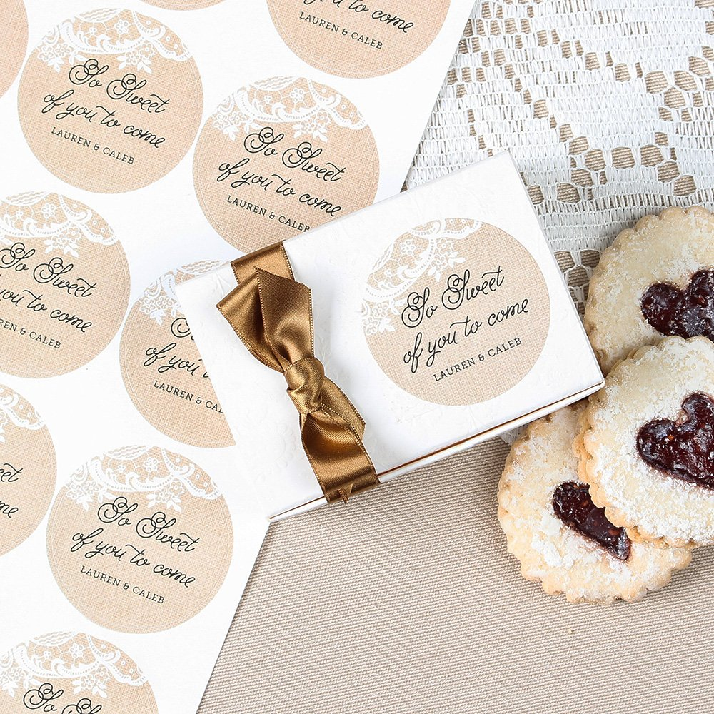Personalized Round Wedding Labels 2936