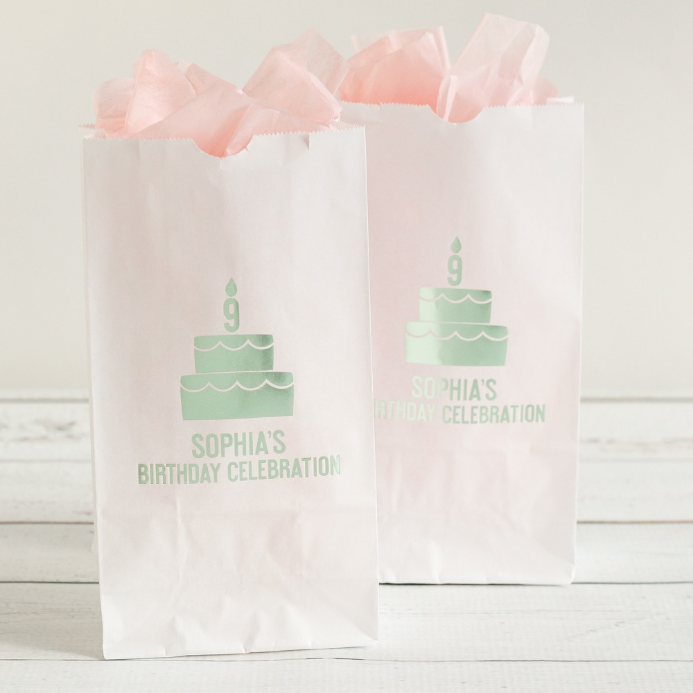 Personalized Birthday Cake Goodie Bags