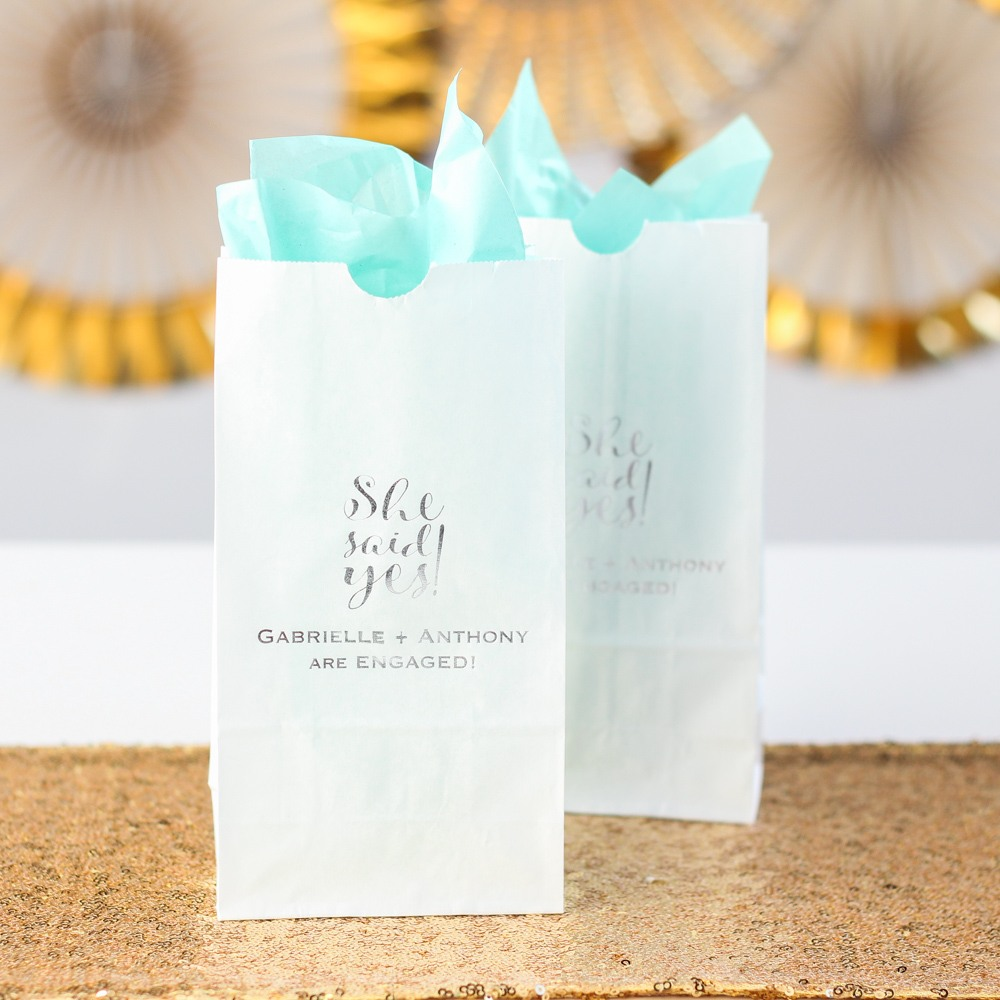Personalized She Said Yes Goodie Bags