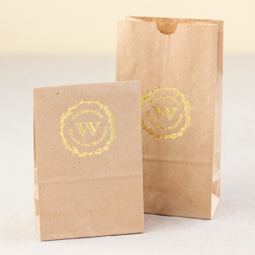 Rustic Wreath Design Personalized Goodie Bag