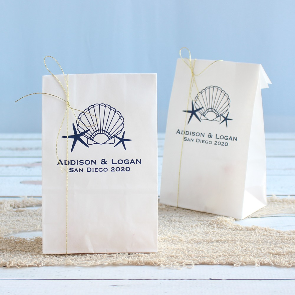 Personalized Seashell Goodie Bag