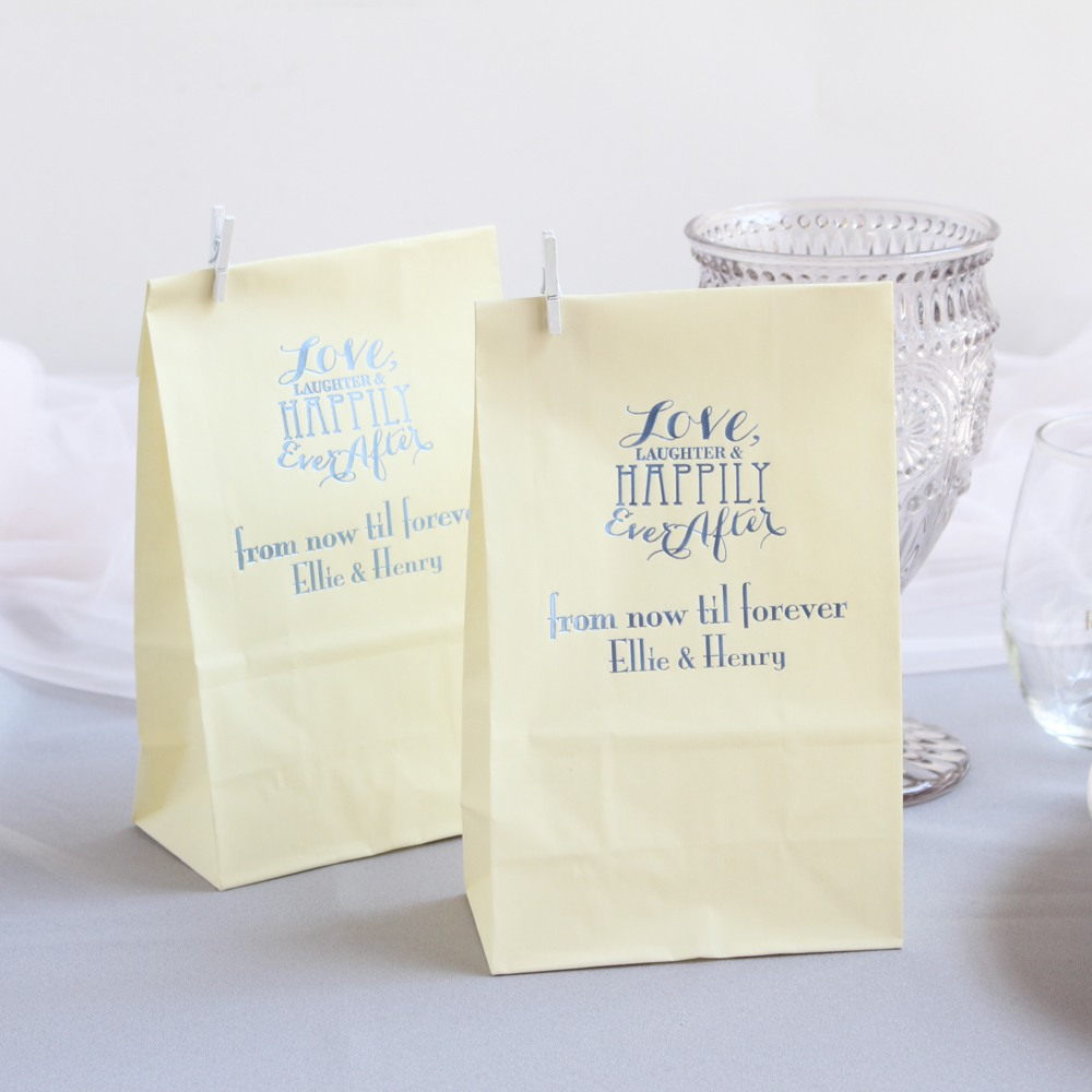 Personalized Love Laughter Wedding Goodie Bag