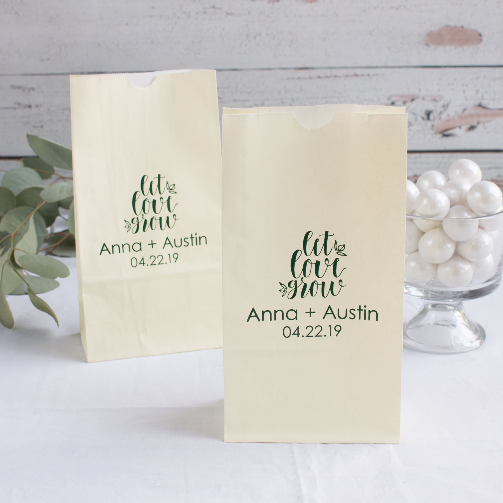 Personalized Let Love Grow Goodie Bag