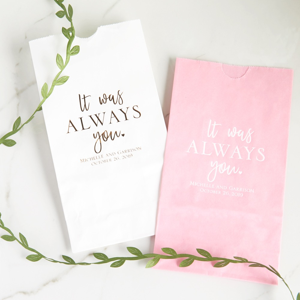 Personalized It Was Always You Bridal Goodie Bag