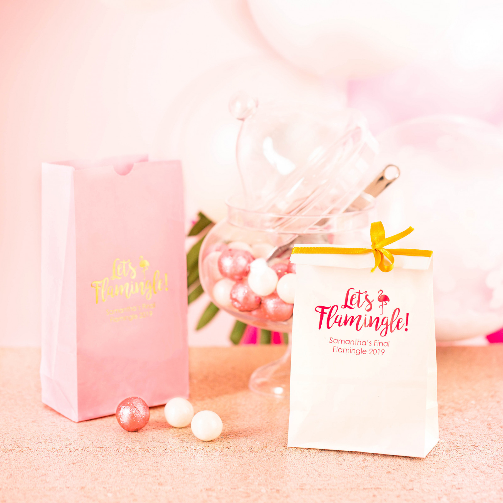 Personalized Let's Flamingle Bridal Goodie Bag
