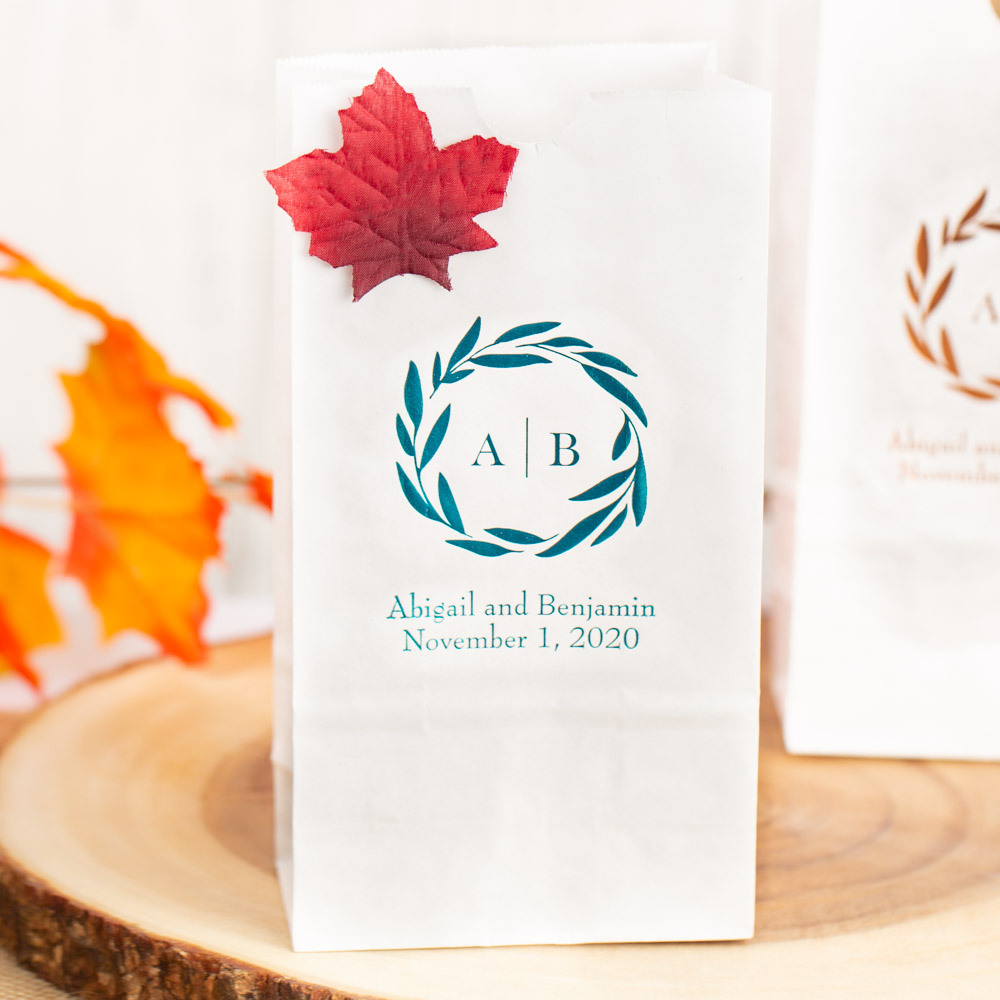 Personalized Fall Harvest Bridal Goodie Bag