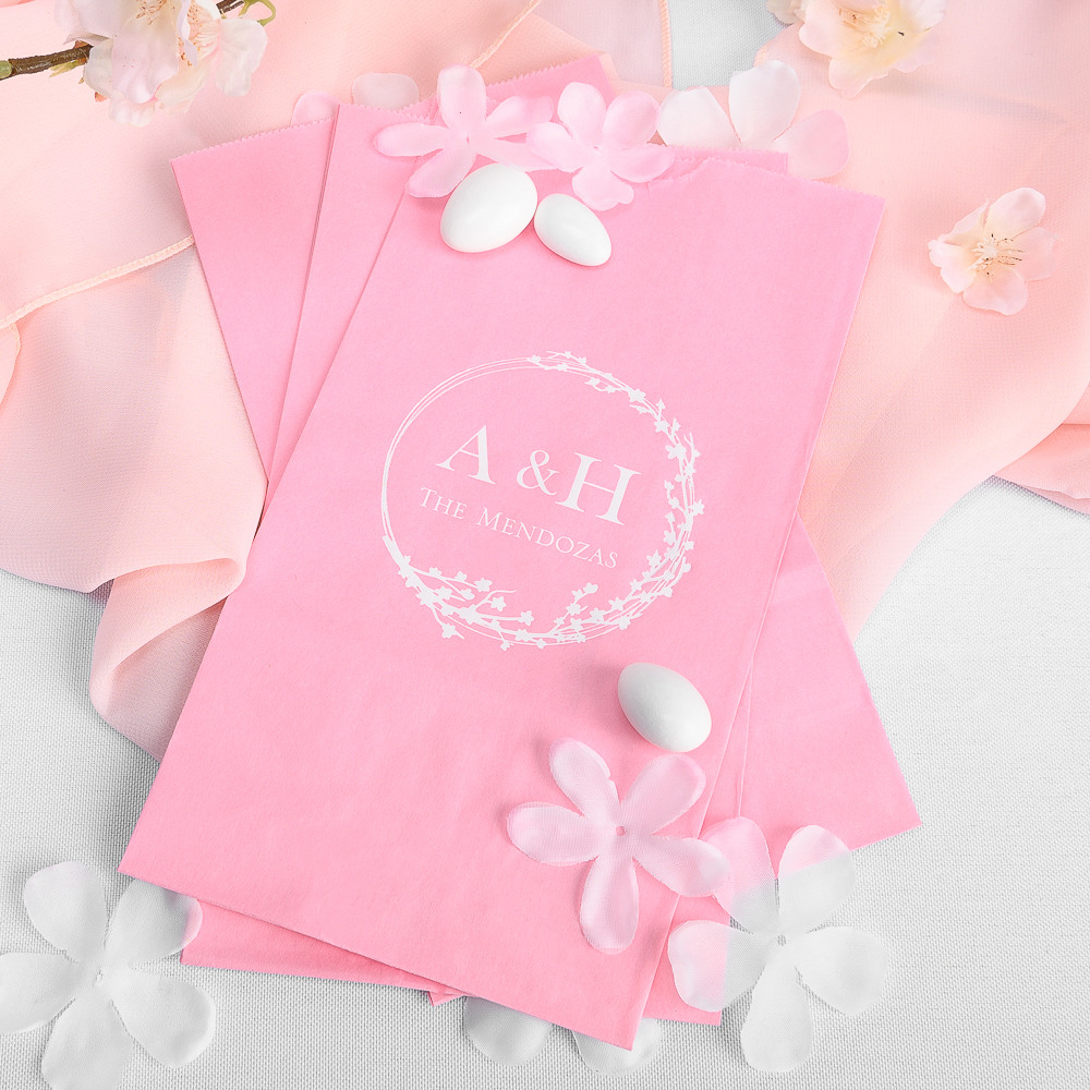 Personalized Cherry Blossom Bridal Goodie Bag