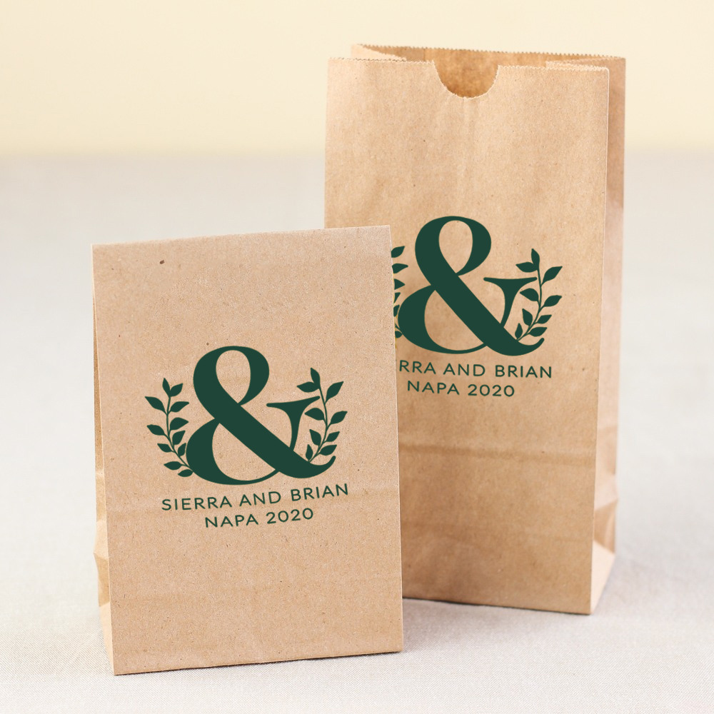 Personalized Eco Ampersand Bridal Goodie Bag