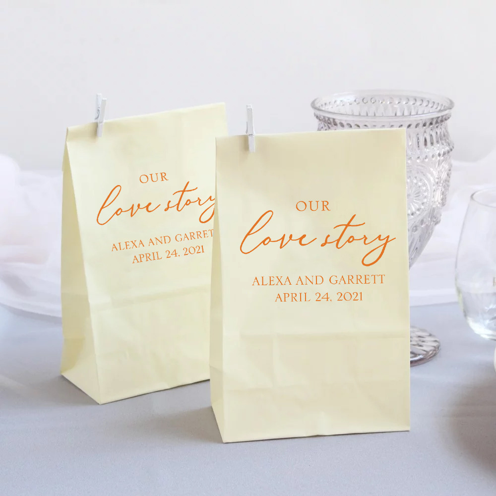 Personalized Our Love Story Bridal Goodie Bag