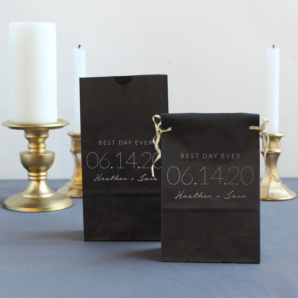 Personalized Wedding Date Bridal Goodie Bag
