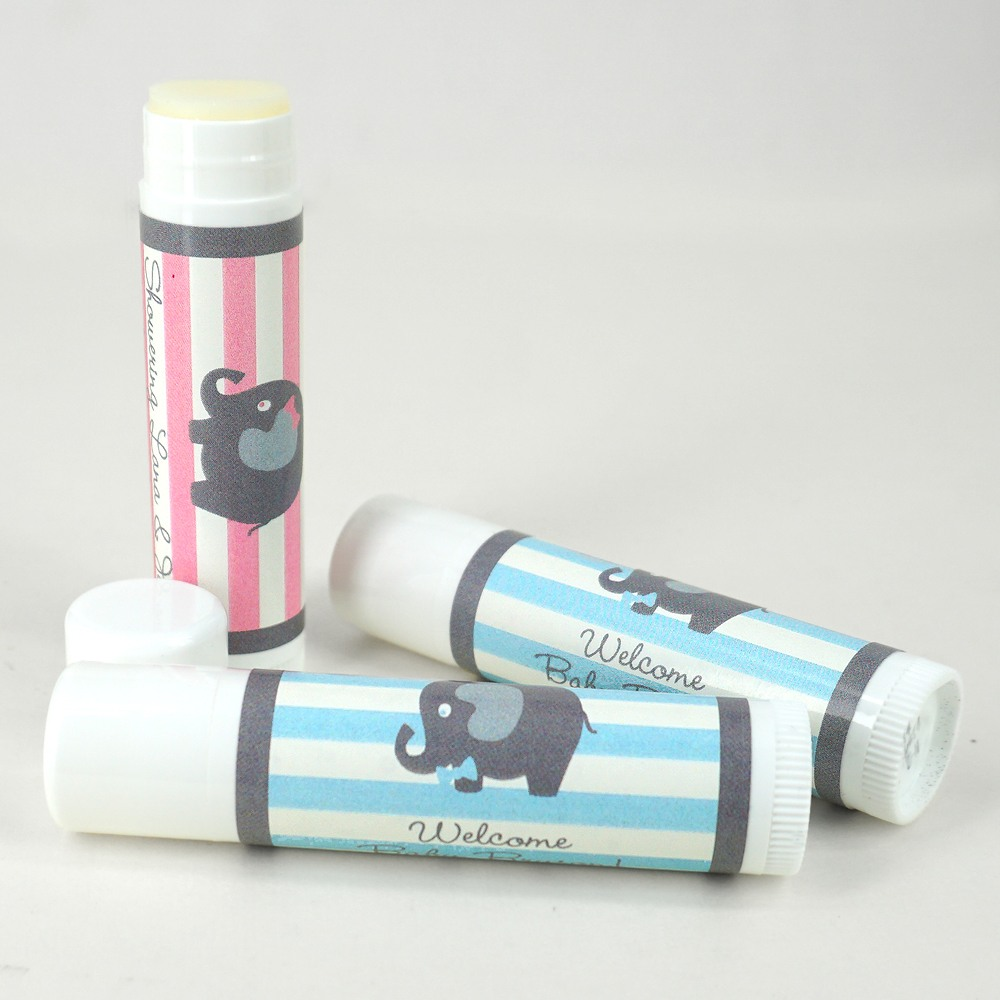 Personalized Elephant Lip Balm Favor