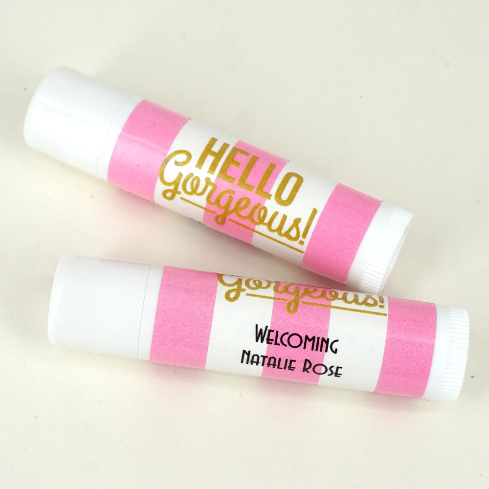 Personalized Baby Shower Lip Balm Favor